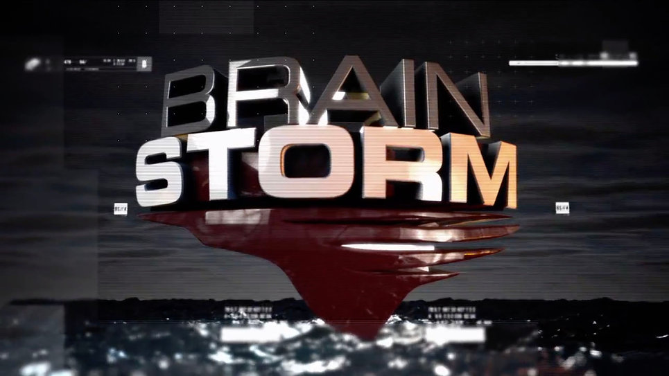 Brain Storm show logo and graphics.