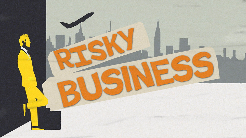 Risky Business Title Graphic