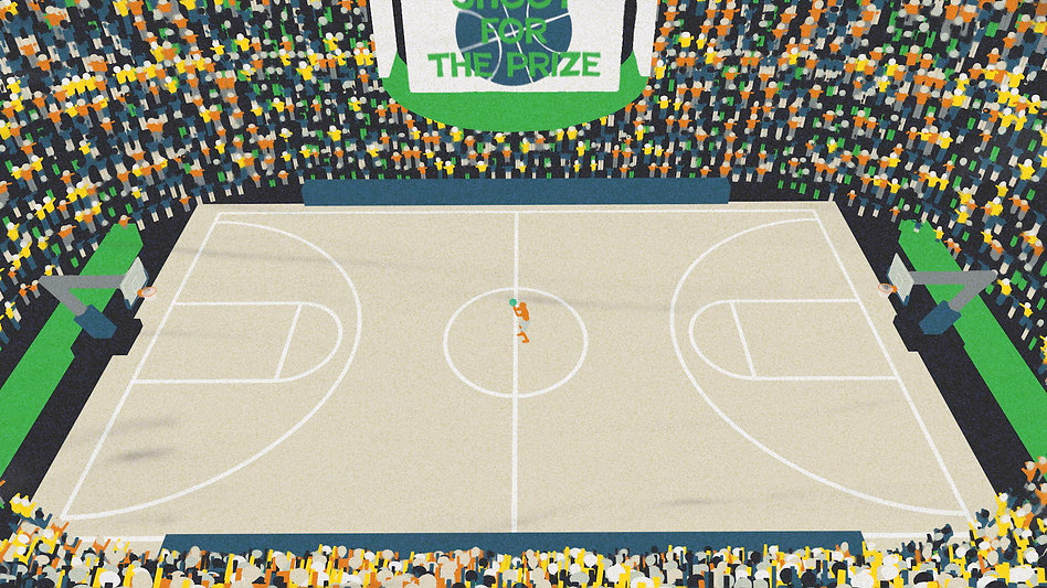 Risky Business Basketball Court Graphic