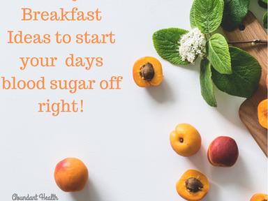 4 easy breakfast ideas to manage blood sugar!