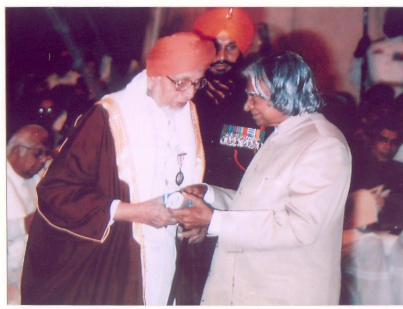 Founder President taking Padmashree