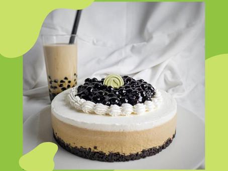Moon Pearl Milk Tea Cake