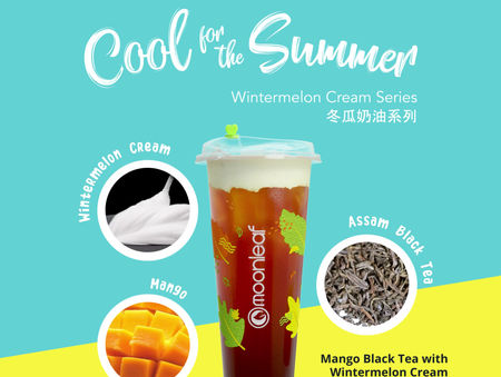 Our MANGO BLACK TEA with WINTERMELON CREAM. #CoolForTheSummer
