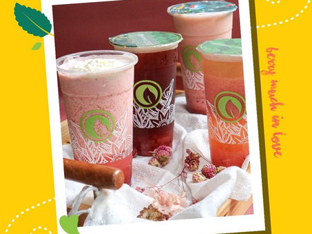 What's sweeter than strawberry? BUY ONE TAKE ON STRAWBERRY DRINKS!