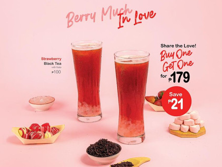 Strawberry Black Tea with Nata is best for two!