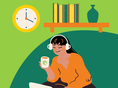 Get that cafe vibe going and enjoy your Moonleaf milk tea while listening to our playlists!