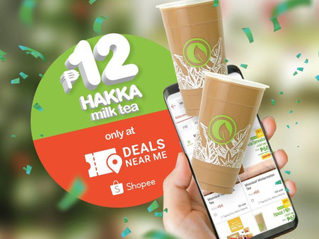 Moonleaf's Hakka Milk Tea for only P12.00!
