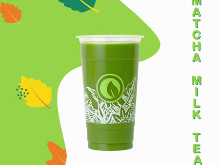 """Move into the month of March with a cup of Moonleaf Matcha Milk Tea!"