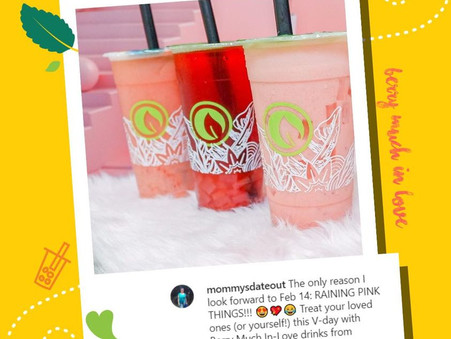 Feel the kilig from our Strawberry Drinks of #BerryMuchInLove