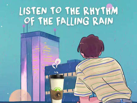 Imagine sipping on a warm cup of tea while listening to the rhythm of the rain!