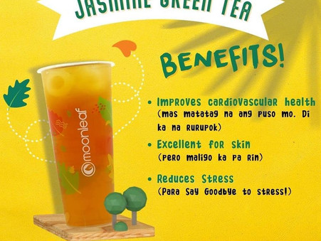 Start your Manic Monday with our Jasmine Green Tea that's packed with benefits!