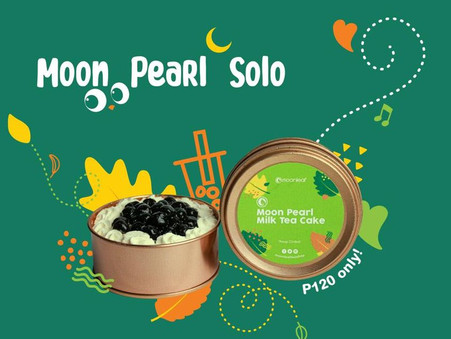 Our Moon Pearl Milk Tea Cake is now available in solo sizes!