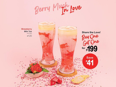 Pretty-in-pink, tasty, and refreshing Strawberry Milk Tea.