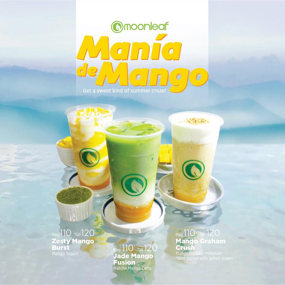Mango drink, Moonleaf, Mango, Mango Graham, Mango Matcha, Mango Yogurt