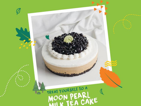 First full moon of the year by treating yourself to a Moon Pearl Milk Tea Cake