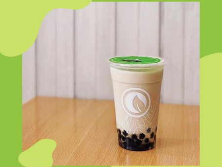 Wintermelon Milk Tea + pearls = #GoodVibesInACup