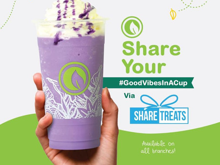 Share Your #GoodVibesInACup Via Share Treats!