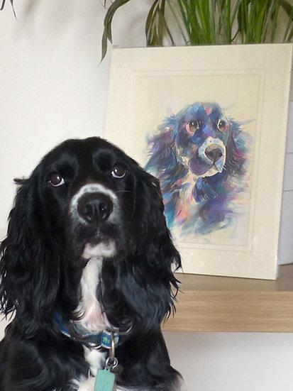 Medium Bespoke Original Watercolour Portrait