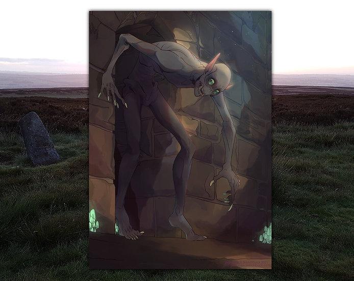 Digital Human Character or Humanoid Creature Illustration