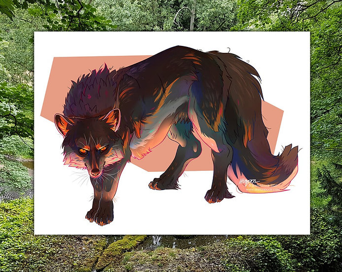 Digital Feral Character or Creature Illustration