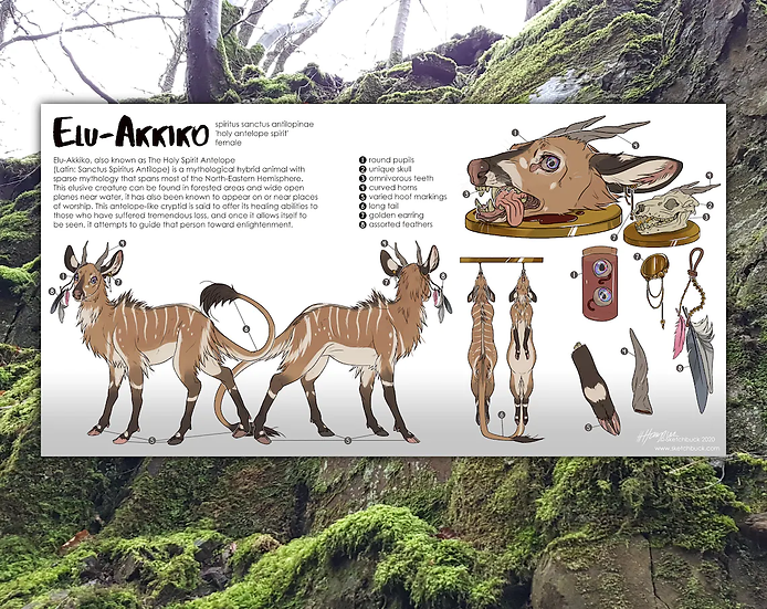 Digital Scientific Feral Character Reference Sheet