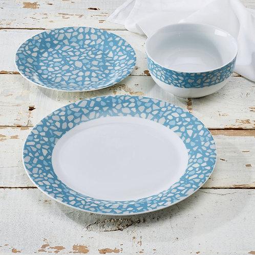 Terrazo Blue Dinner 12pc Set