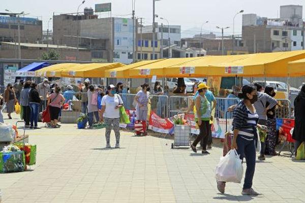 Más de 22,000 personas fueron a mercados itinerantes en sedes de Juegos Panamericanos