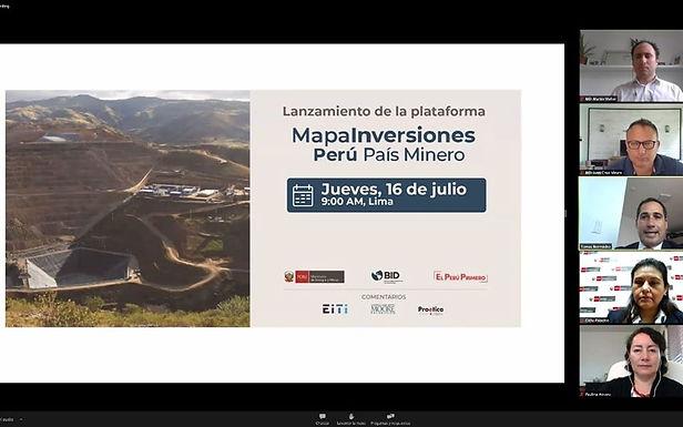 MapaInversiones Perú País Minero visibilizará proyectos públicos financiados con canon y regalías
