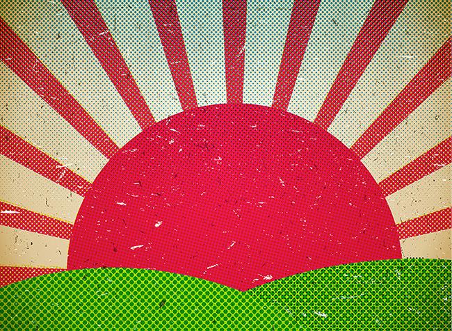 Graphic Sunset