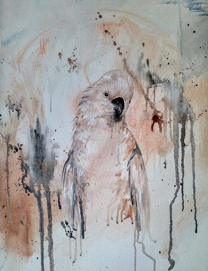 Mina The Cockatoo Original Artwork