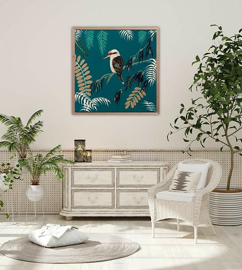 Teal Kookaburra Print
