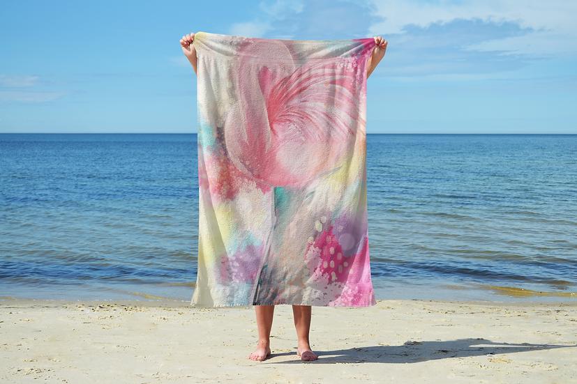 Flamingo Sand Free Beach Towel