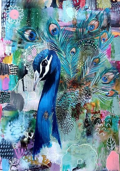 Eva the Peacock Original Artwork