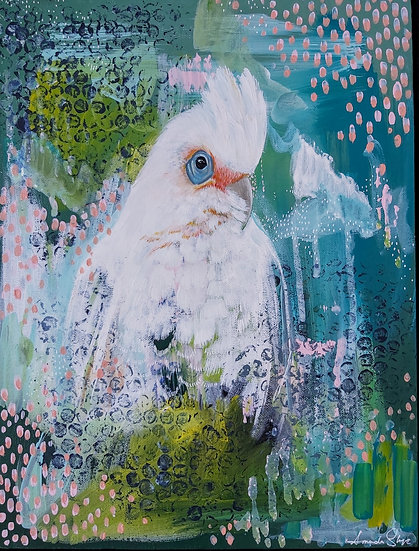 Barry The Long Billed Corella Original Artwork