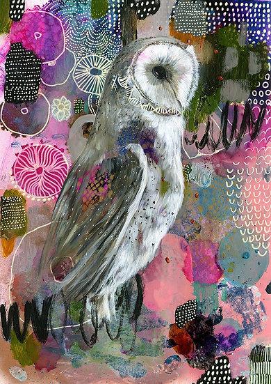 Millie the Barn Owl Print