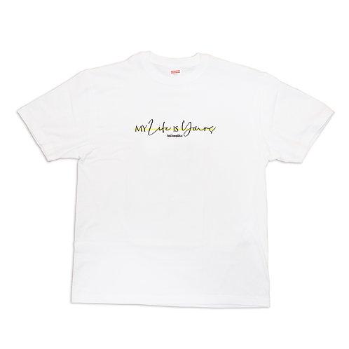 世界で一番愛のこもった『名前入れ』Tシャツ【MY Life IS Yours】
