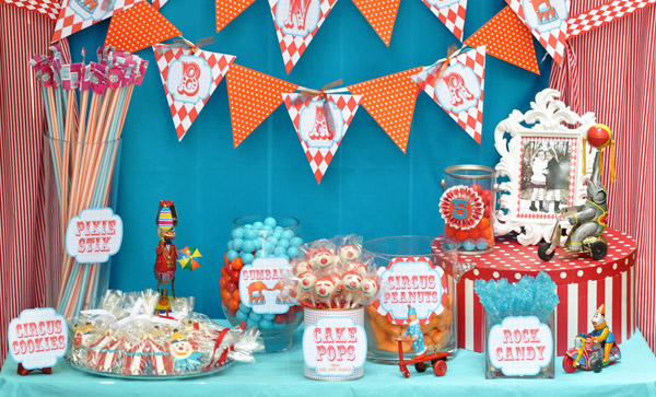 circus carnival birthday party ideas candy bar 3.jpg