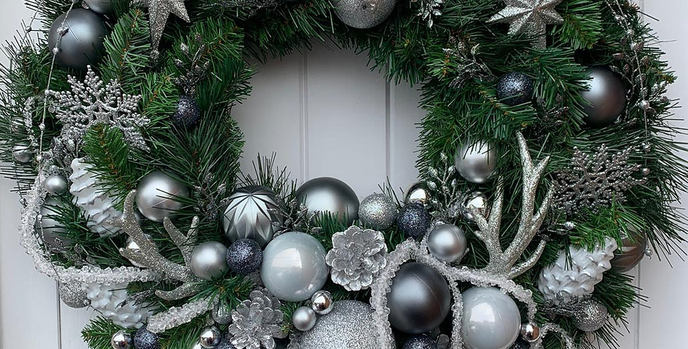 Greys and silvers - Wreath E