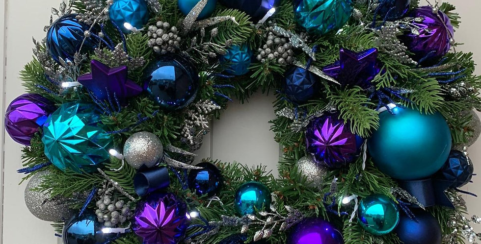 Blues and purples - Wreath J
