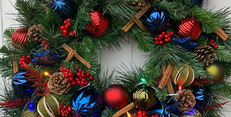 Reds, blues and greens - Wreath P