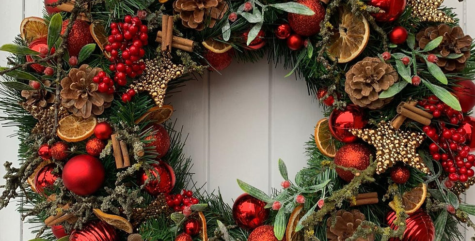 Reds, berries and coppers - Wreath L