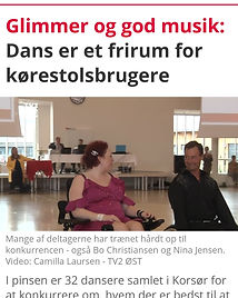 Nina & Bo -fra artikel tv2east- Danish Wheelchair Dance Cup