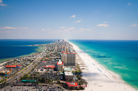 The Grand Tour Over Pensacola Beach