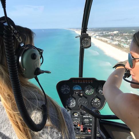 Flying Gulf Coast over Pensacola Beach