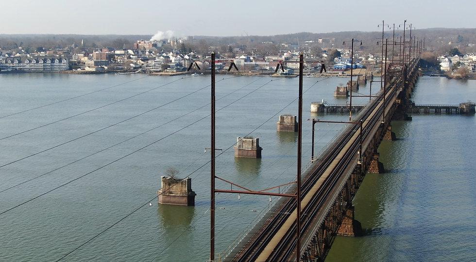 Susquehanna River Amtrak Crossing overvi