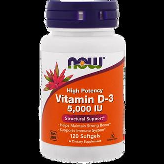 NOW vitamin D3 высокоактивный 5000ME (120капс)