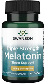 Swanson Triple Strength Melatonin 10mg (60капс)