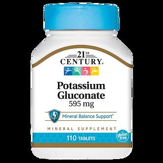 21 CENTURY Potassium Gluconate 595 mg (110таб)
