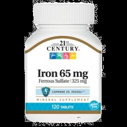 21 CENTURY Iron 65mg (120таб)