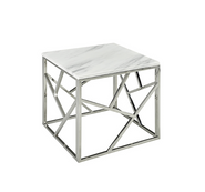 'Carole' Side Table w/ Marble Top
